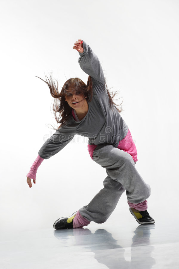 hip hop tancerkę. zdjęcie royalty free