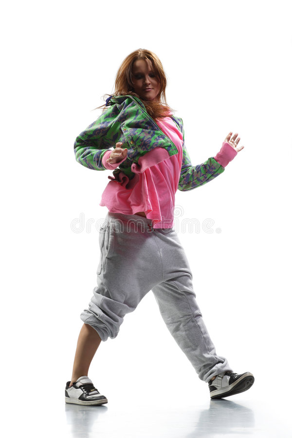 hip hop tancerkę. obraz royalty free