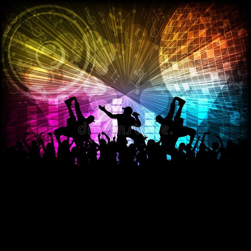 Hip-hop tancerz I noc klub royalty ilustracja