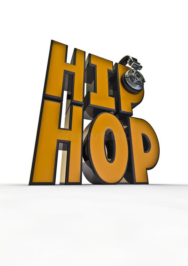 hip hop tytuł royalty ilustracja