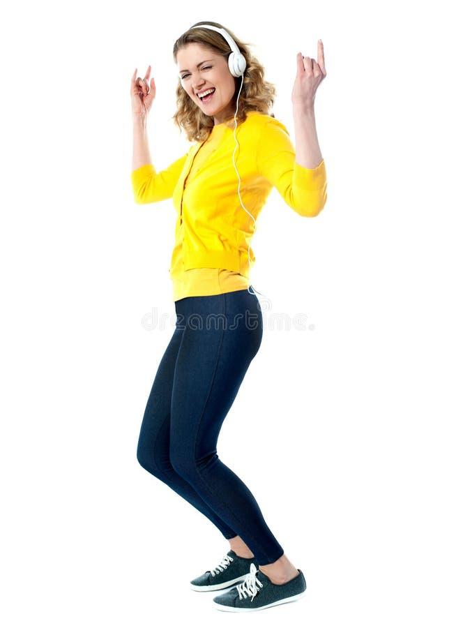 Download Hip Hop Woman With Headphones Enjoying Music Stock Photography - Image: 24320072