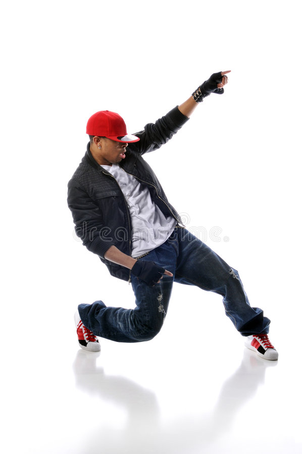 Hip-hoparttänzer stockfotos