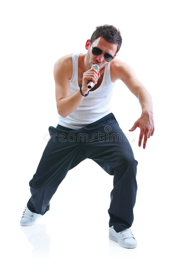 Hip-hopkünstler lizenzfreie stockfotografie