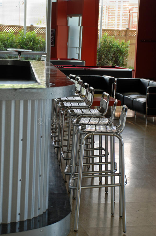 Hip Lounge Bar Interior Royalty Free Stock Photo