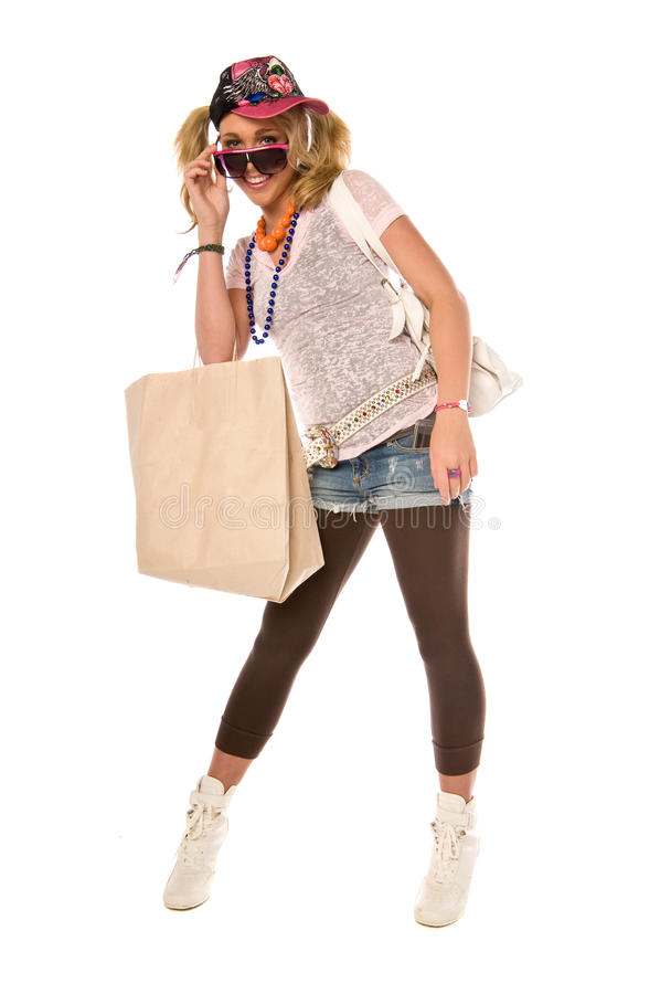 Download Hip Urban Girl stock photo. Image of happy, shorts, fashion - 10798640
