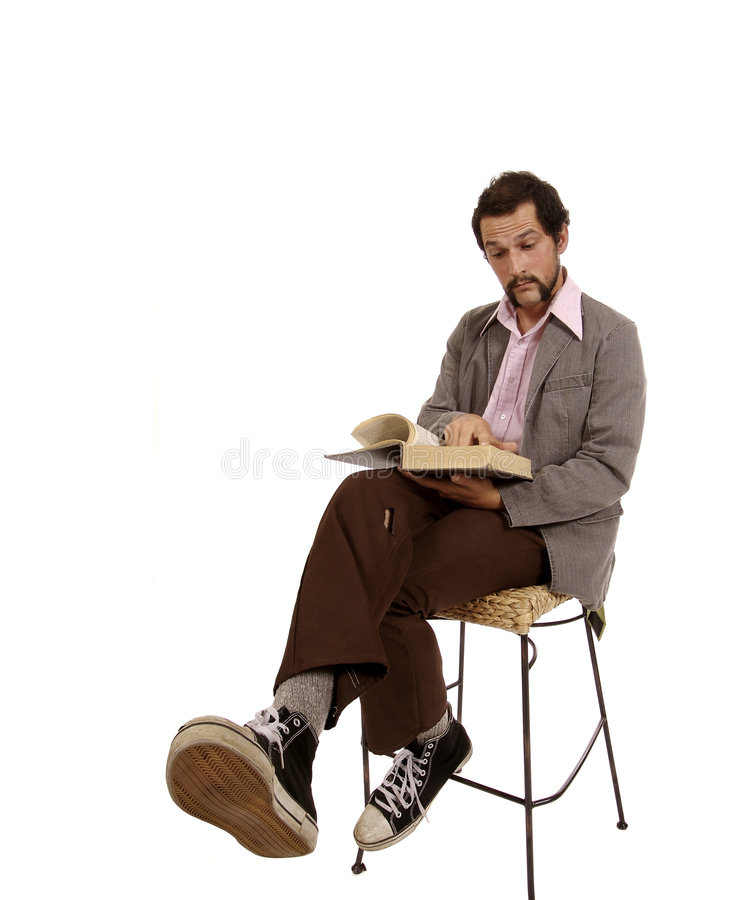 Hip Young Cool Guy with Dictionary royalty free stock photo