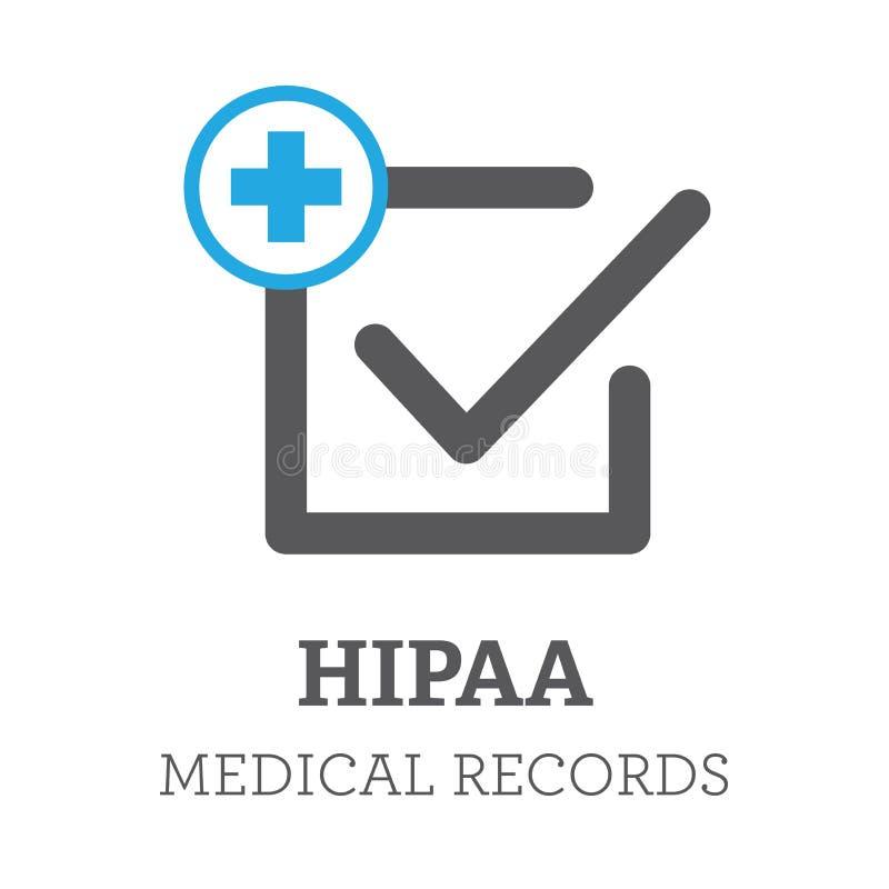 HIPAA服从象图表 库存例证