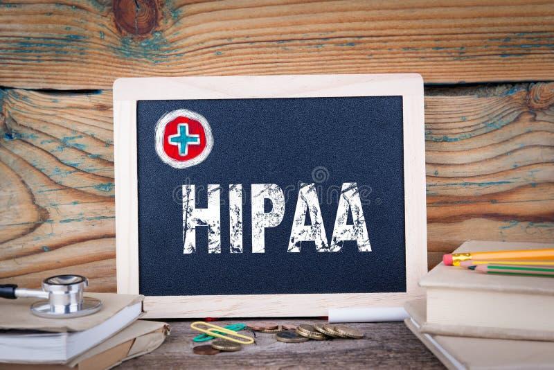 HIPAA 健康保险轻便和责任行动 库存图片