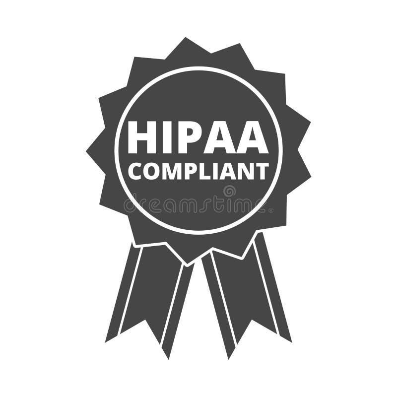 HIPAA-Grafisch Nalevingspictogram royalty-vrije illustratie