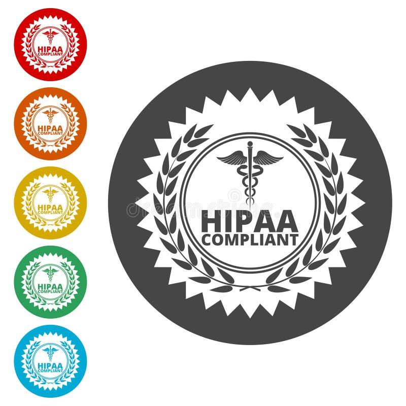 HIPAA - Mobilidade do seguro de saúde e ícone do ato da responsabilidade ilustração royalty free
