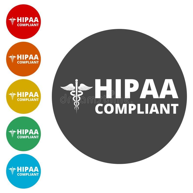 HIPAA - Mobilidade do seguro de saúde e ícone do ato da responsabilidade ilustração do vetor