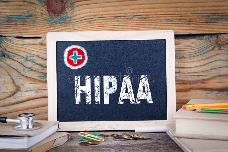 HIPAA Mobilidade do seguro de saúde e ato da responsabilidade imagem de stock