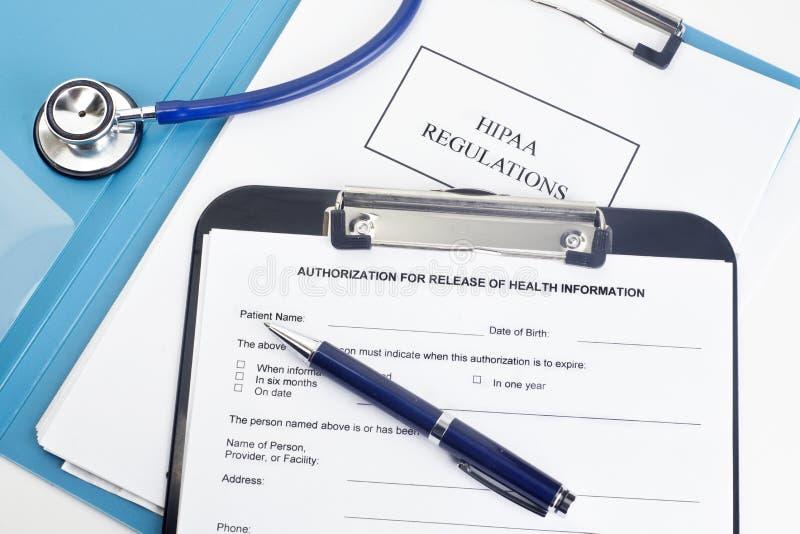 HIPAA-reglemente royaltyfria foton