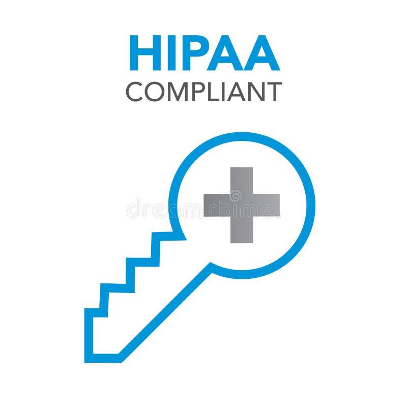 HIPAA zgodności ikony grafika ilustracja wektor