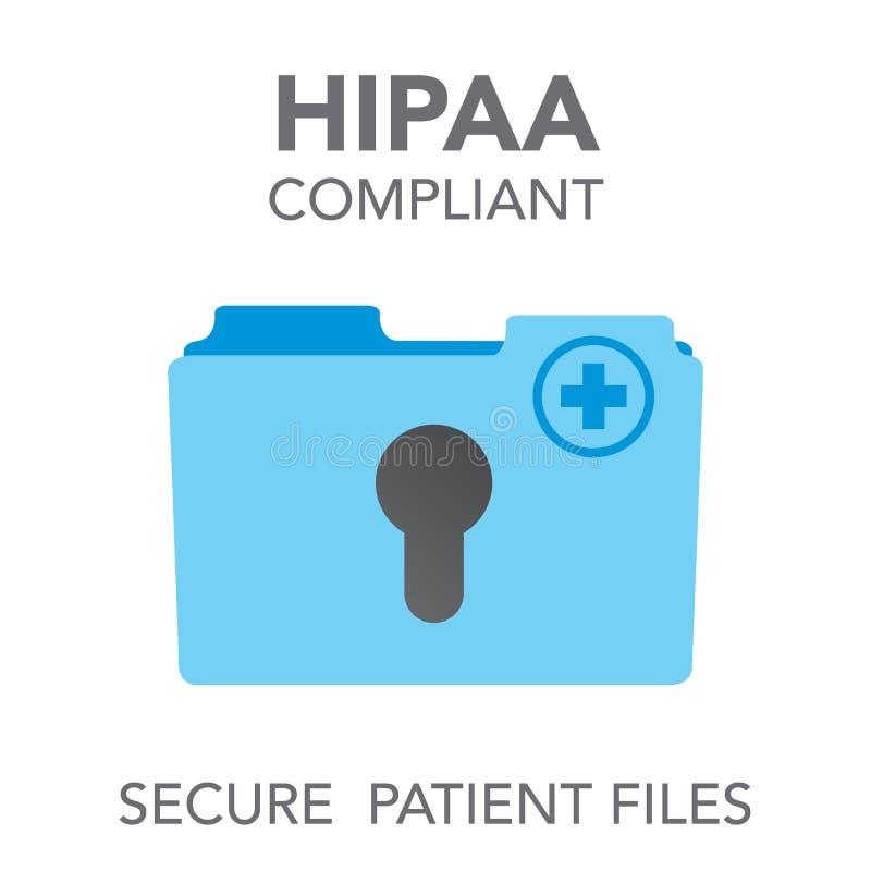 HIPAA zgodności ikony grafika royalty ilustracja