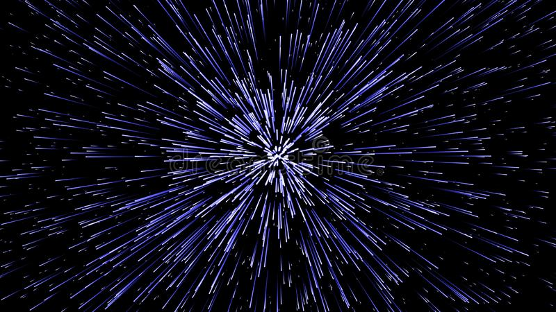 hiper- skok t?o geometrycznego abstrakcyjne K??kowy geometryczny wz?r Starburst dynamiczne linie royalty ilustracja