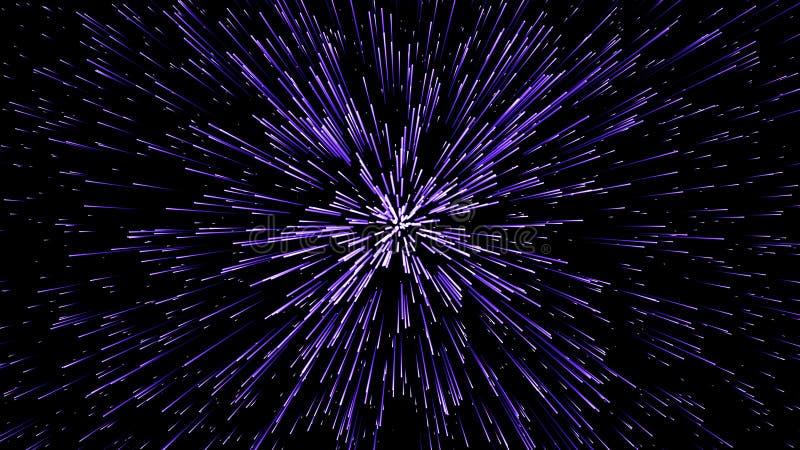 hiper- skok t?o geometrycznego abstrakcyjne K??kowy geometryczny wz?r Starburst dynamiczne linie ilustracja wektor
