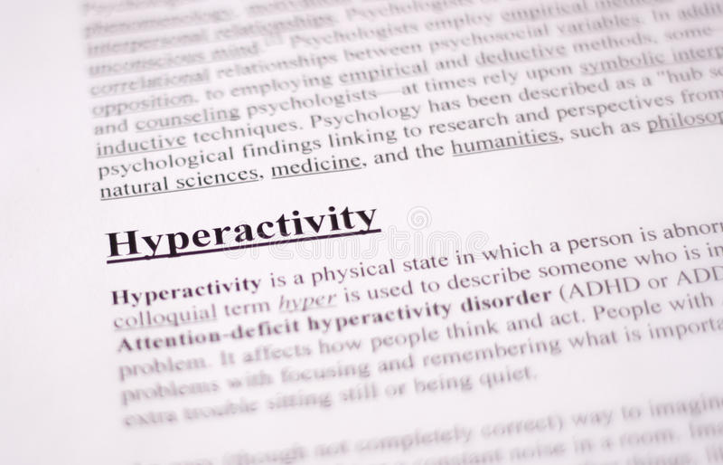 Hiperactividad - educación o fondo de la atención sanitaria imagenes de archivo