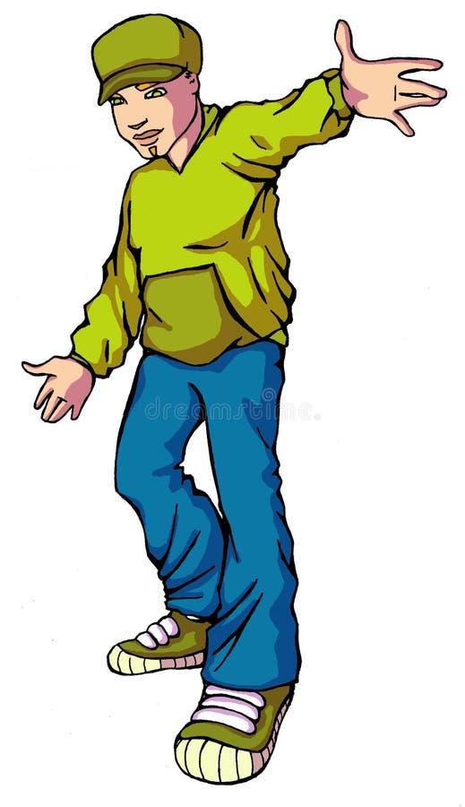 Hiphop 01 de l'adolescence illustration de vecteur