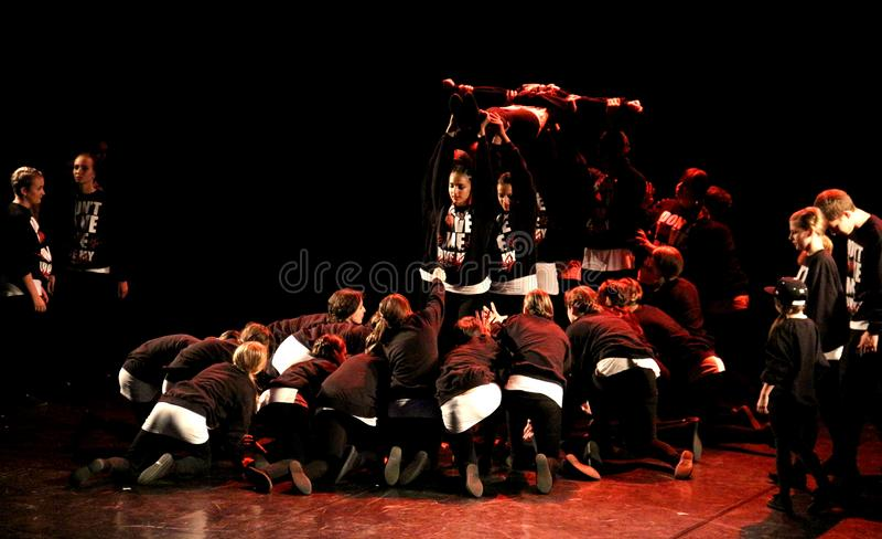 HipHop Dancers Performance stock photos