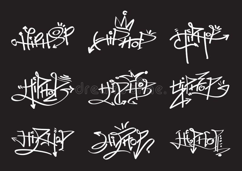 Hiphop-preto ilustração do vetor