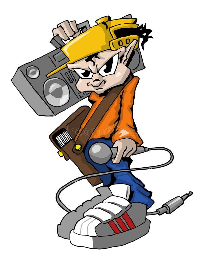 hiphop raper royalty ilustracja