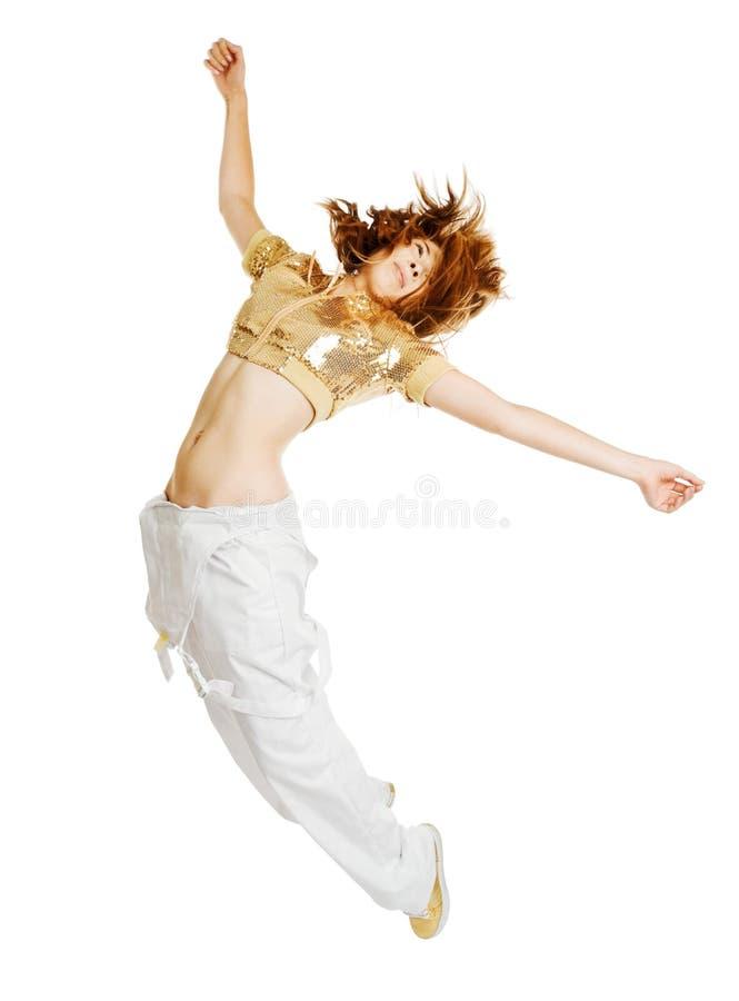 Hiphop-Tänzer getrennt auf weißem Hintergrund stockbild