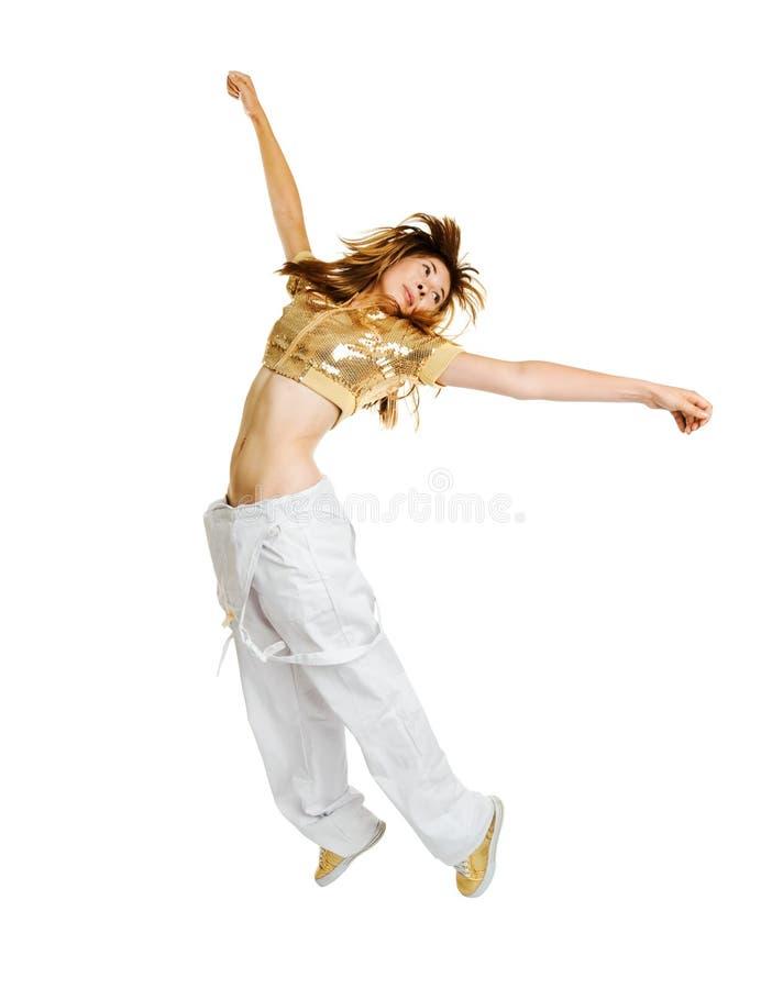 Hiphop-Tänzer getrennt auf weißem Hintergrund lizenzfreies stockfoto