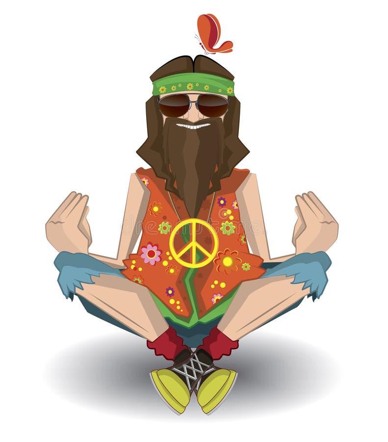 hipie d'isolement illustration libre de droits