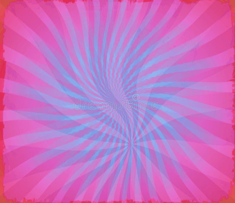 Hipisa Groovy jaskrawy falisty kolorowy starburst ilustracja wektor