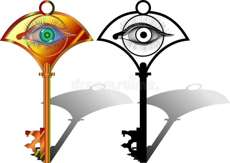 A hipnose é a chave ilustração do vetor