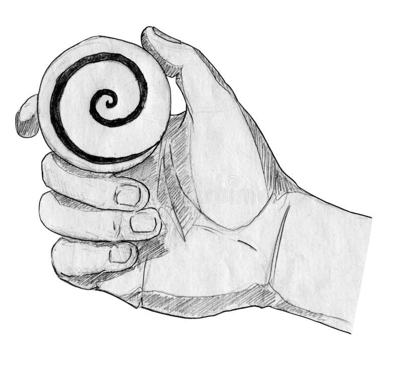 Hipnose ilustração do vetor