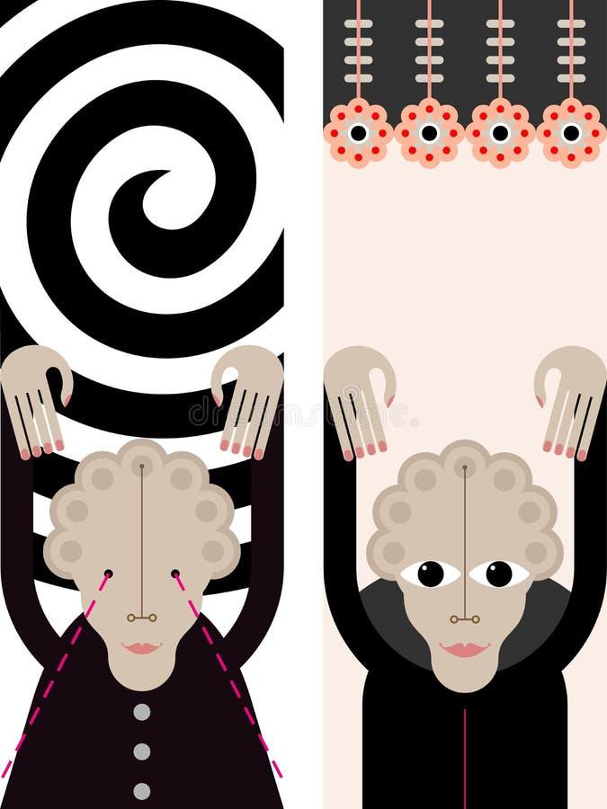 Hipnose - ilustração do vetor ilustração stock