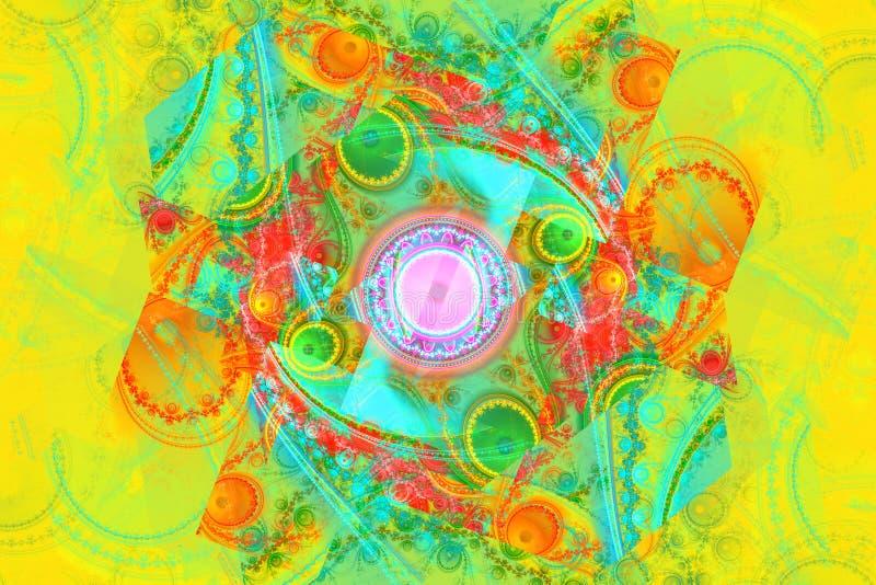 Hipnose mágica da música que sonha o fundo hipnótico ideal do fractal do sumário do papel de parede ilustração stock