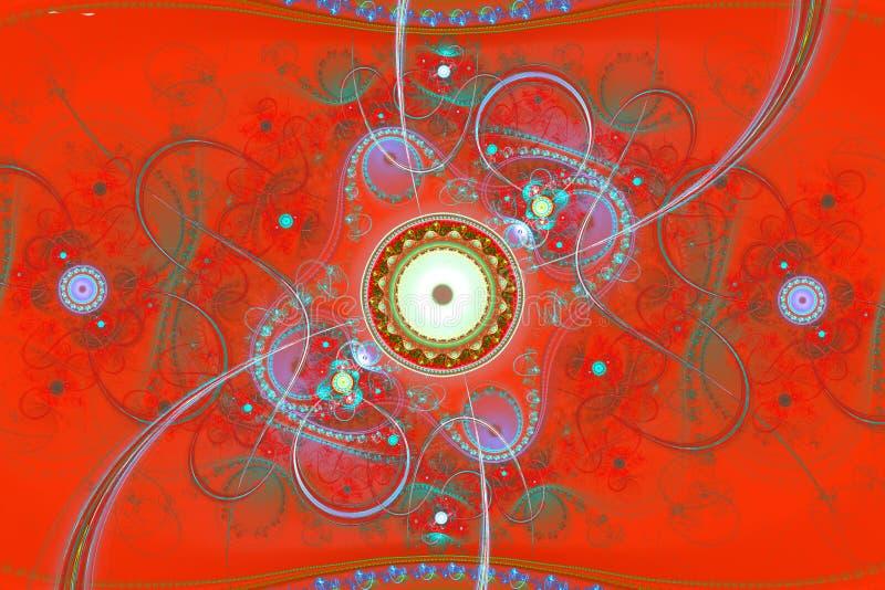 Hipnose mágica da música que sonha o fundo hipnótico ideal do fractal do sumário do papel de parede ilustração do vetor