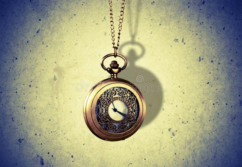 Hipnotizador Clock imagem de stock