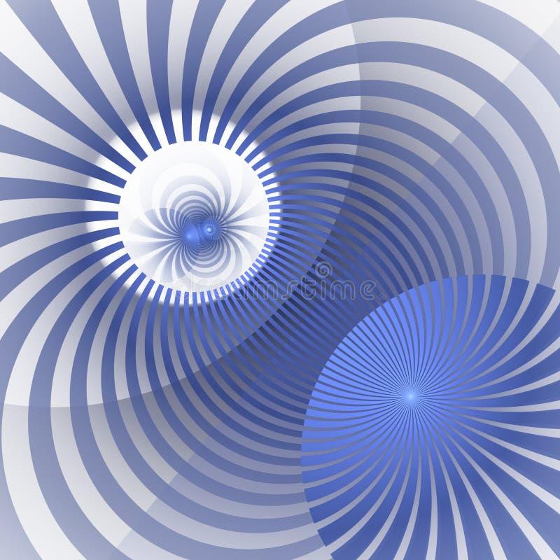 Hipnotyczny i Wibrujący kolorów promieni tło Abstrakcjonistyczny Ślimakowaty vortex Opromieniony sunbeams bełkowisko ilustracja wektor