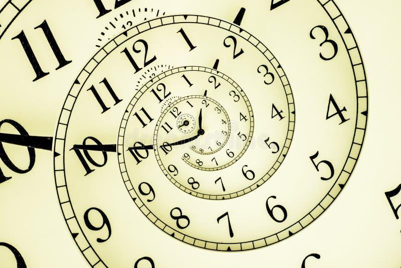 Hipnotyczny zegar royalty ilustracja