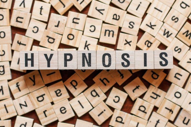 Hipnozy słowa pojęcie obraz royalty free