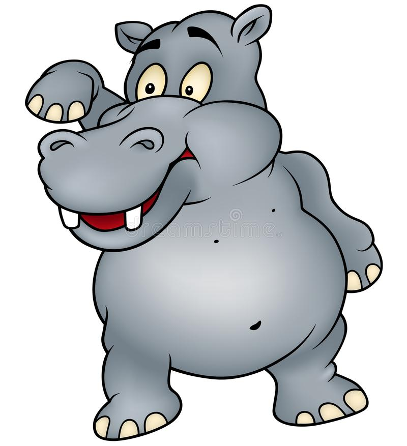 Hipopótamo ilustração royalty free