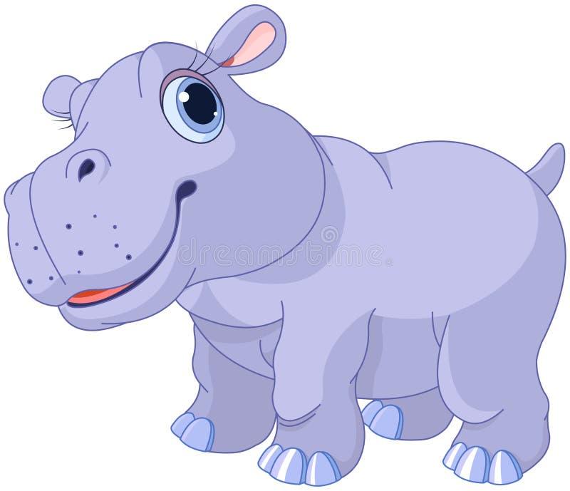 Hipopótamo bonito ilustração royalty free