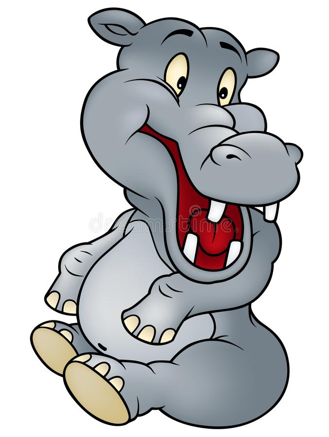 Hipopótamo de assento ilustração stock