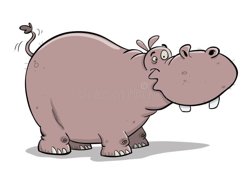 Hipopótamo de mirada estúpido gordo grande libre illustration