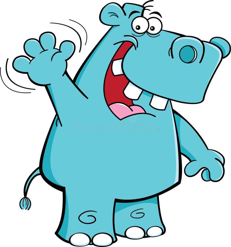 Hipopótamo de ondulação ilustração stock