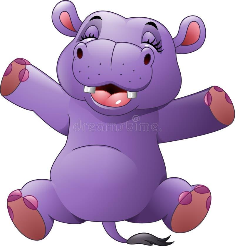 Hipopótamo divertido de la historieta libre illustration