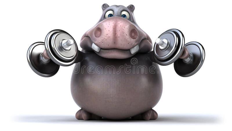Hipopótamo do divertimento ilustração royalty free