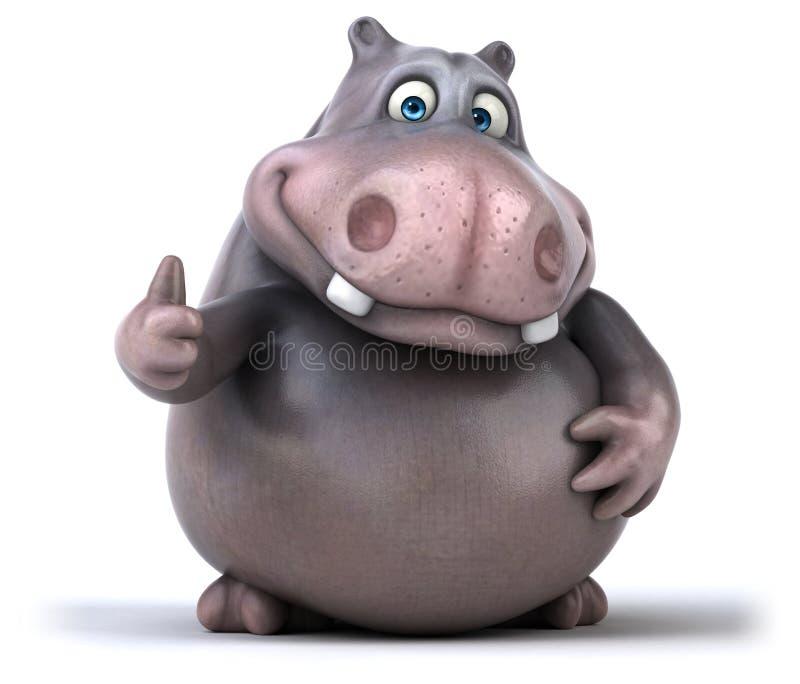 Hipopótamo do divertimento ilustração stock