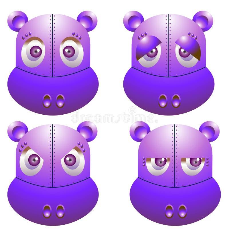 Hipopótamo do robô ilustração stock