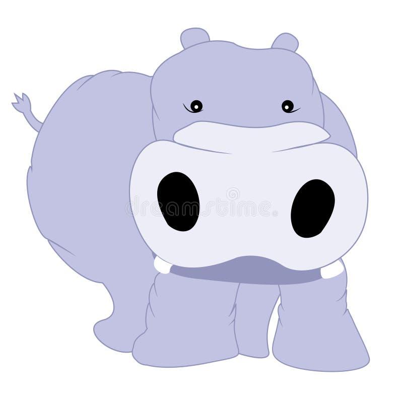Hipopótamo/hippopotamus ilustração royalty free