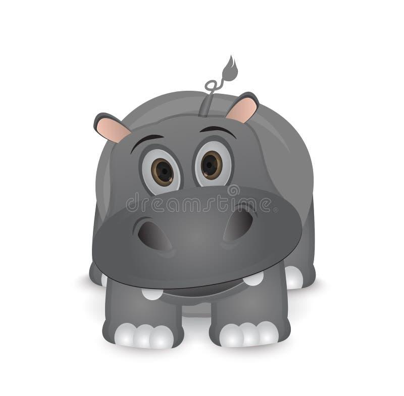 Hipopotama ilustration ilustracji